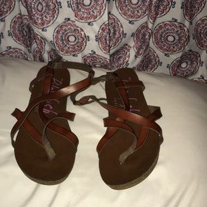 Cute leather sandals
